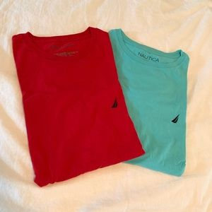 Blue and Red Nautica T-shirt's